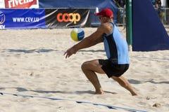 залп турнира lausanne fivb cev 2009 пляжей Стоковое Изображение RF