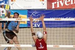 залп турнира lausanne fivb cev 2009 пляжей Стоковая Фотография