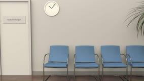 Зал ожидания на офисе gastroenterologist иллюстрация штока