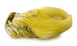 Замаринованная китайская капуста на белой предпосылке стоковая фотография