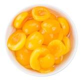 Замаринованные абрикосы изолированные на белизне Стоковое Фото