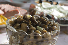 замаринованные грибы меда agarics Стоковые Фото