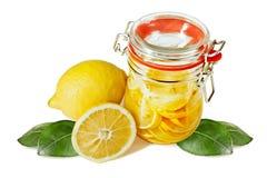 замаринованные лимоны опарника Стоковая Фотография RF