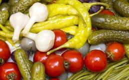 замаринованные овощи Стоковая Фотография