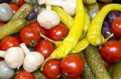 замаринованные овощи Стоковое Фото