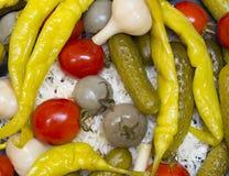 замаринованные овощи Стоковые Фото