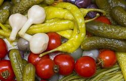 Замаринованные овощи, Стоковая Фотография