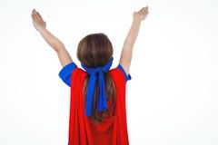Замаскированная девушка претендуя быть супергероем Стоковые Изображения RF