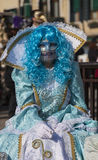 Замаскированная женщина - масленица 2011 Венеции Стоковое фото RF