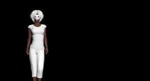 замаскированная женщина Стоковые Изображения RF