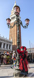 Замаскированная персона - масленица 2012 Венеции Стоковые Изображения RF