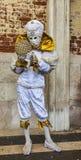 Замаскированная персона с глобусом Стоковая Фотография