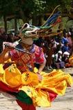 замаскированное празднество Бутана Стоковые Изображения RF