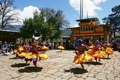 замаскированное празднество Бутана Стоковая Фотография