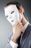 замаскированное промышленное espionate принципиальной схемы бизнесмена Стоковое Изображение RF