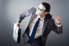 замаскированное промышленное espionate принципиальной схемы бизнесмена Стоковые Фото