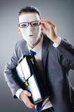 замаскированное промышленное espionate принципиальной схемы бизнесмена Стоковые Изображения RF