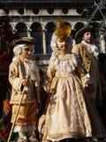 Замаскированные дети в Венеции, очень сладостный и beatuiful Стоковые Изображения