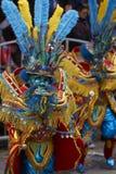 Замаскированные танцоры Morenada на масленице Oruro в Боливии Стоковая Фотография