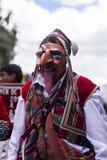 Замаскированные танцоры Virgen del Кармен Pisac Cuzco Перу Стоковые Фотографии RF