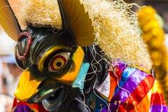 Замаскированные танцоры Virgen del Кармен Pisac Cuzco Перу Стоковая Фотография RF