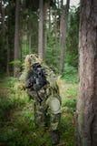 Замаскированный воин Стоковое фото RF