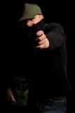 замаскированный вооруженный человек Стоковая Фотография