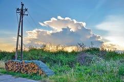 Замаскированный заход солнца Стоковое фото RF