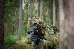 Замаскированный солдат Стоковые Изображения