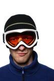 замаскированный snowboarder Стоковое Изображение RF