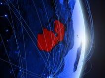 Замбия на голубой голубой цифровой земле стоковая фотография rf