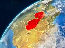 Замбия на земле с границами стоковое фото