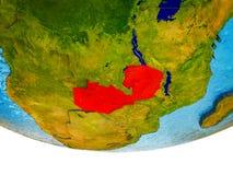 Замбия на земле 3D стоковые изображения