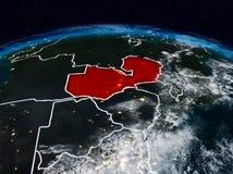 Замбия на ноче стоковая фотография