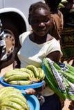 ЗАМБИЯ - 14-ОЕ ОКТЯБРЯ 2013: Местные люди идут около жизнь в Замбии стоковая фотография