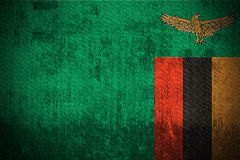 Замбия grunge флага Стоковое Изображение
