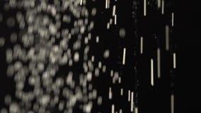 Замедленное движение, плавая зайчики пыли падая сверху донизу сток-видео