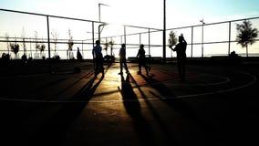 Замедленное движение съемки баскетбола сток-видео