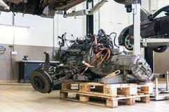 Замена двигателя стоковая фотография rf