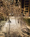 Замерзающий дождь в Бухаресте стоковые фотографии rf