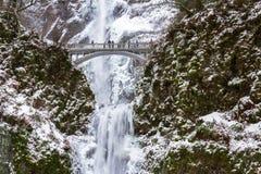 Замерзая падения Multnomah Стоковые Фотографии RF