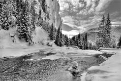 замерзая река Стоковое Изображение