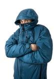 замерзая человек Стоковые Фотографии RF