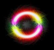 Замерзните движение покрашенного взрыва пыли в форме нашивки Стоковое Изображение RF