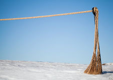 замерли барьером, котор seacoast веревочки Стоковые Фото
