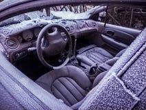 замерли автомобиль, котор Стоковое Фото
