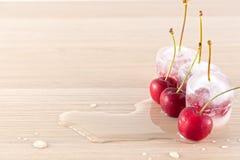 замерли вишни, котор Стоковые Изображения