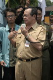 заместитель мэра сольный, Purnomo Achmad транспортирует торжественную речь/ Стоковые Изображения