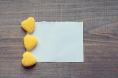 Заметьте и сердце на день валентинки Стоковая Фотография RF