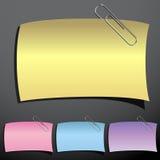 заметьте комплект paperclip Стоковое фото RF
